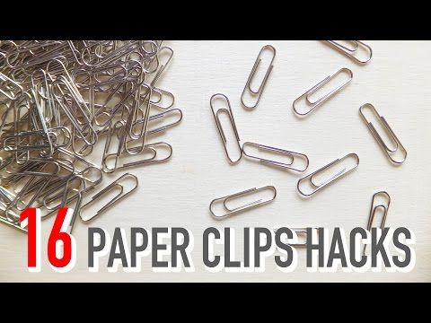 16 Paper Clips Life Hacks For Everyday Uses - YouTube
