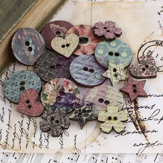Sea Shell Sewing Buttons Craft Card Making Scrapbooking Embellishments