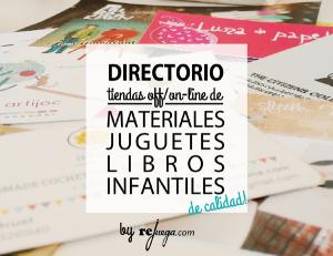 directorio de tiendas con encanto de material, juegos, juguetes y libros infantiles de calidad