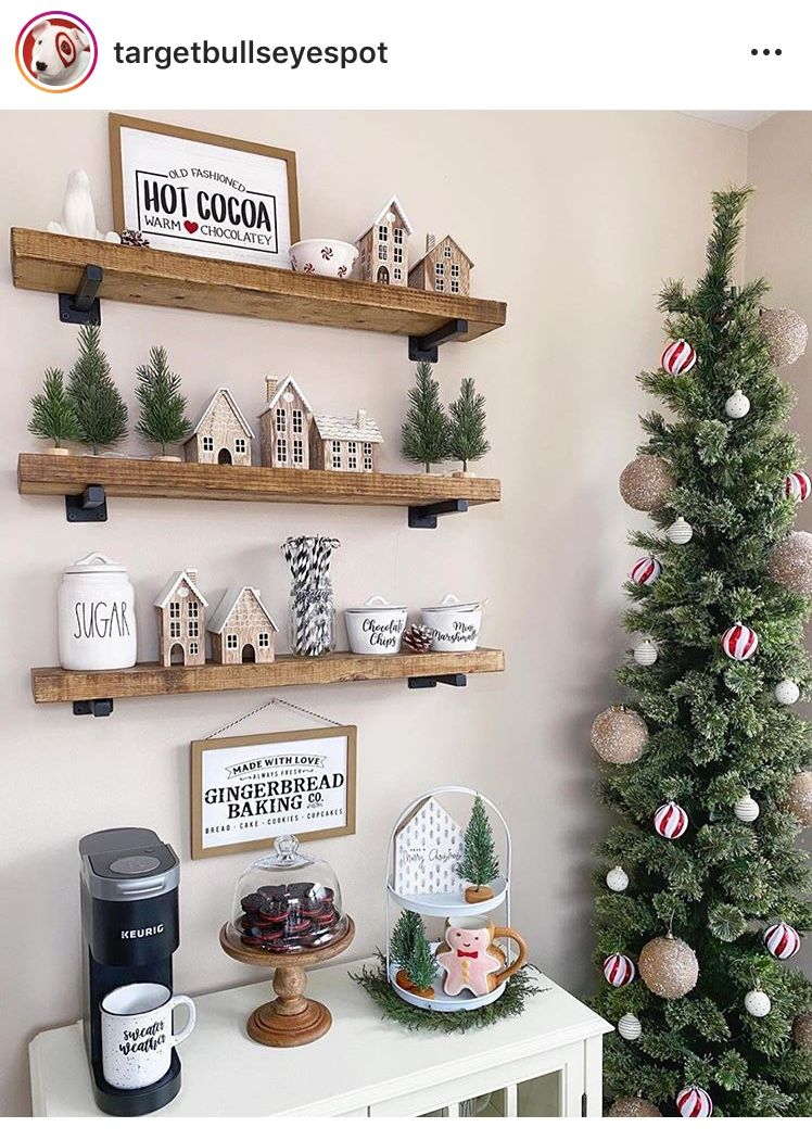 Target Christmas Decor In 2020 Target Christmas Decor Christmas Kitchen Decor Holiday Coffee Bar