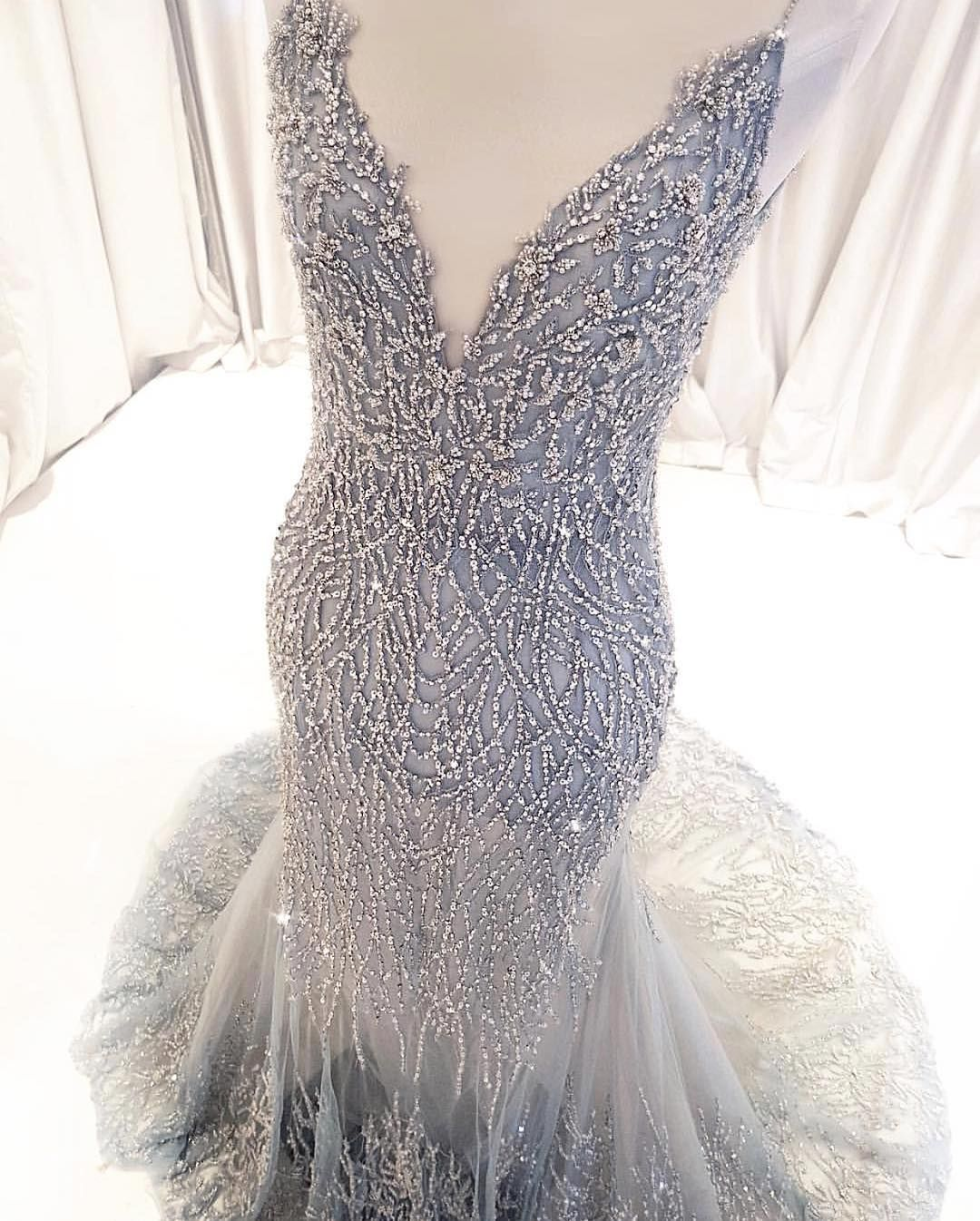Custom dresses inspired by haute couture designer evening fashion