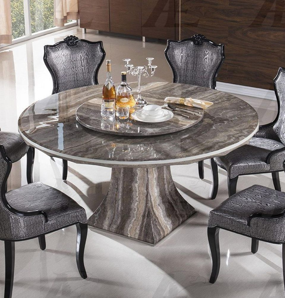 Dining room excellent round marble dining table for 6 cool dining chairs above white ceramic floor that 2 bottles beer on the tabletop the classy and