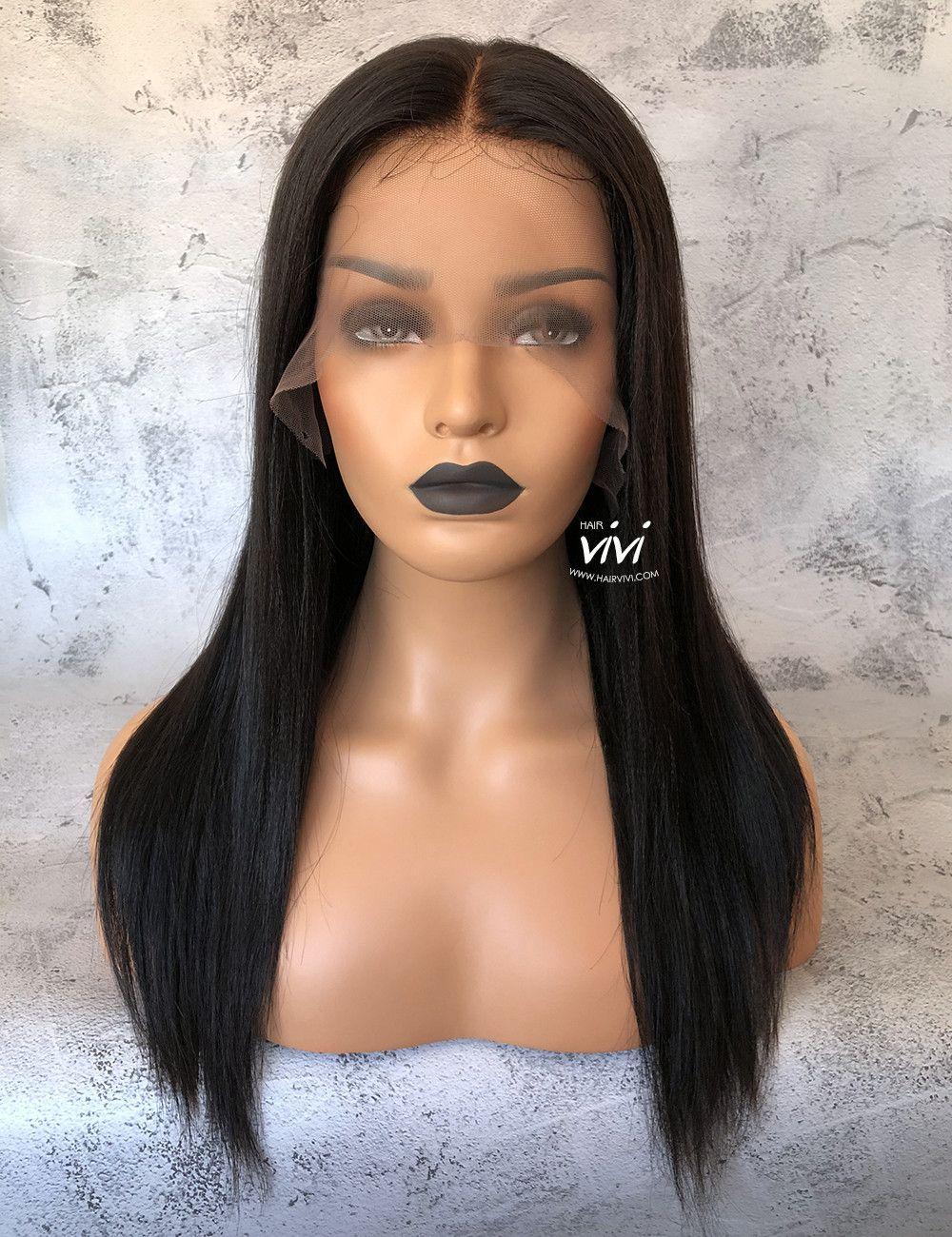 ddfb157e9e3 This Ciara yaki lace wig is a natural black virgin hair full lace wig that  dries