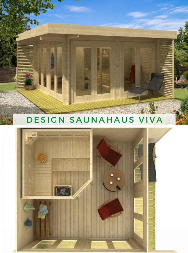 Gartenhaus Mit Sauna Und Terrasse