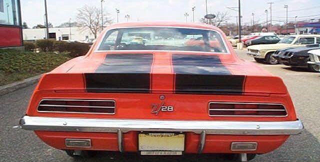 1969 Camaro Z28 Rear View Camaro Chevrolet Chevrolet Camaro