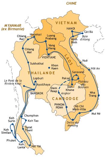 Carte Thailande Cambodge Vietnam.Carte De Notre Itinraire En Asie Du Sud Est Travel En 2019