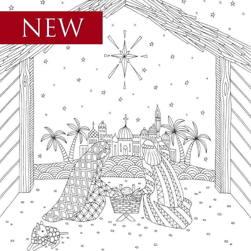 Download & print sample coloring pages of faith-based adult coloring ...