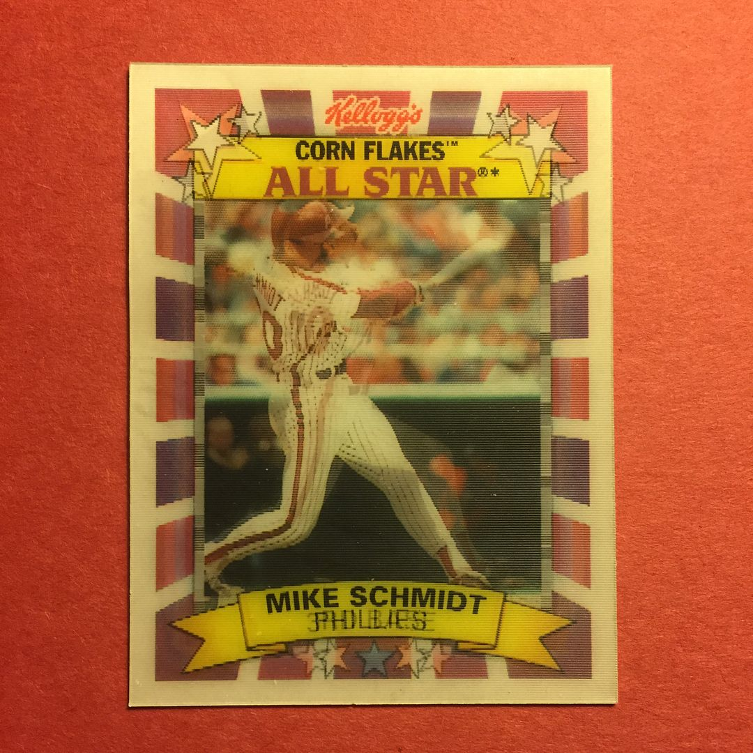 1992 Sport Flics Kellogg\'s Corn Flakes All Star Mike Schmidt ...