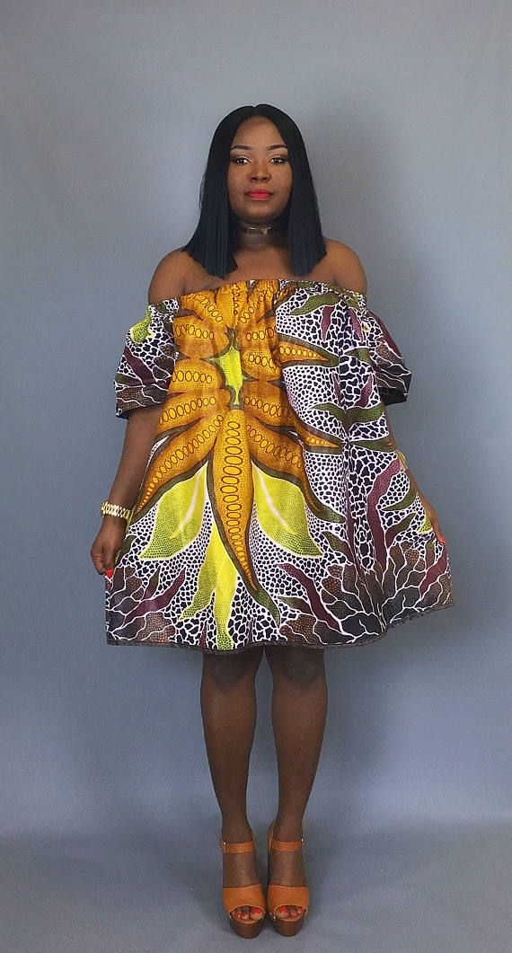 9266e0f8fd5e42 African print off shoulder dress,java print dress, dashiki dress,African  clothing,