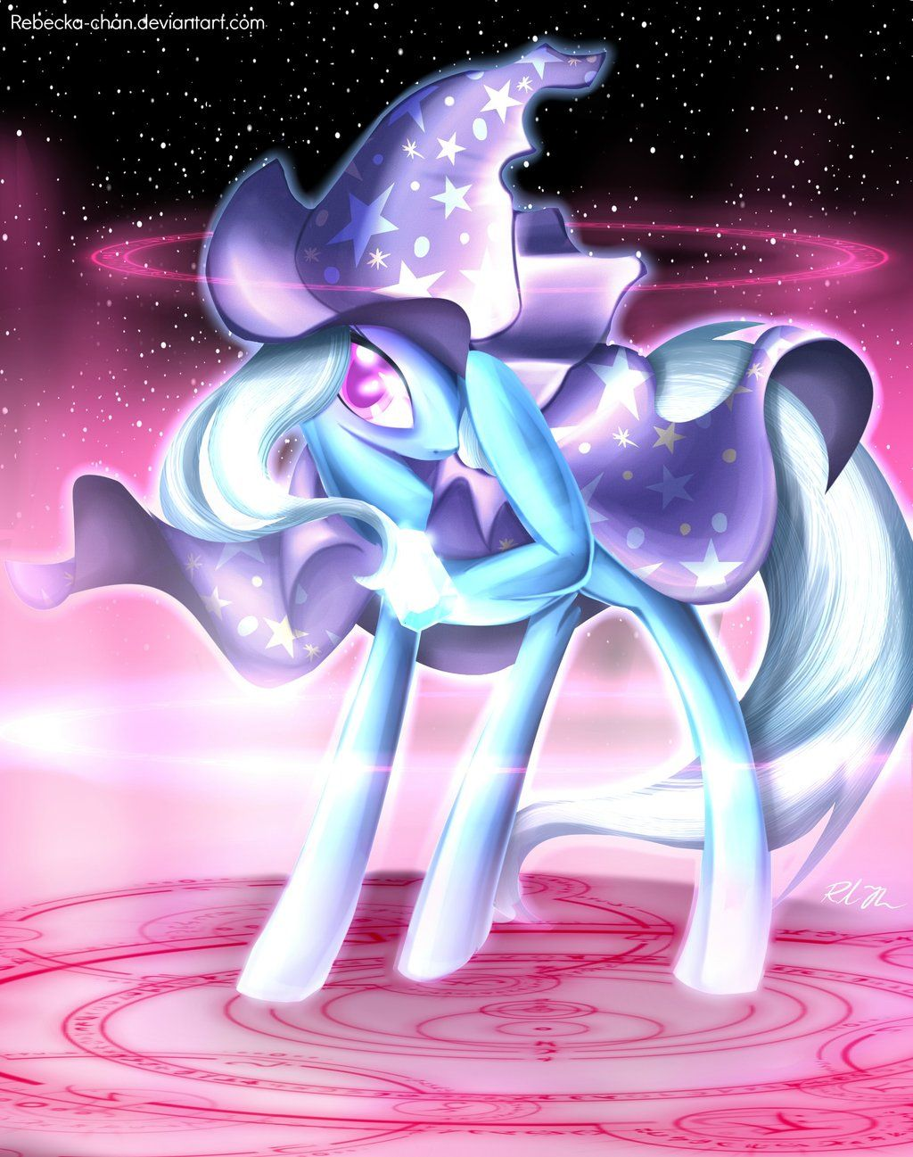 The Great and Powerful Trixie by *Rebecka-chan @deviantART