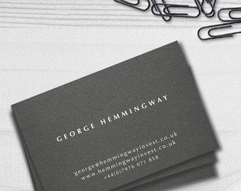 Traditional business cards grey business cards white ink traditional business cards grey business cards white ink modern business cards gift reheart Images