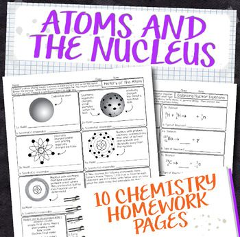 These High School Chemistry Worksheets Are Full Of Pictures Diagrams And Deeper Questions Covering Atoms Vers Chemistry Atomic Structure Chemistry Worksheets