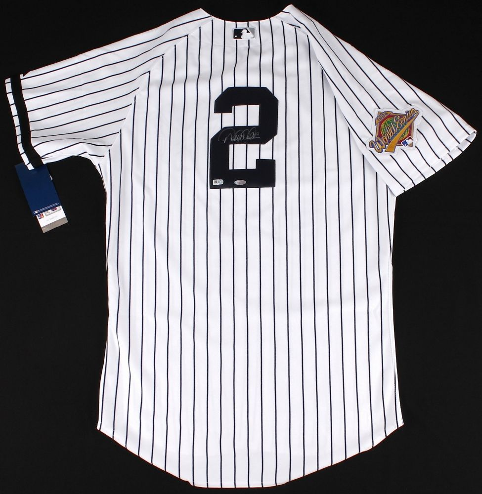 8d41b9e9dc8 Derek Jeter Signed Yankees Authentic Majestic Jersey with 1996 World Series  Patch (MLB   Steiner COA)