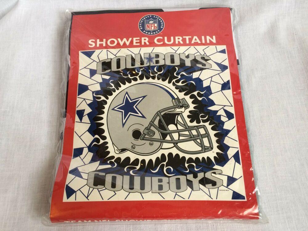 Dallas Cowboys Helmet Team Nfl Football Shower Curtain 70 X 72 Jay