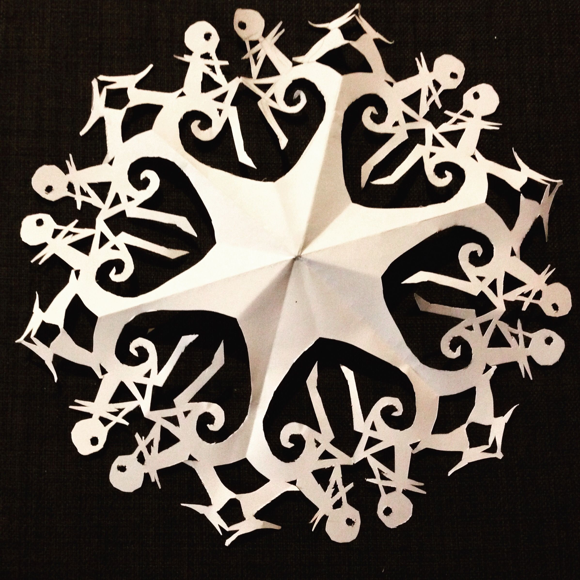 Nightmare Before Christmas Snowflake. Jack Skellington and Zero ...