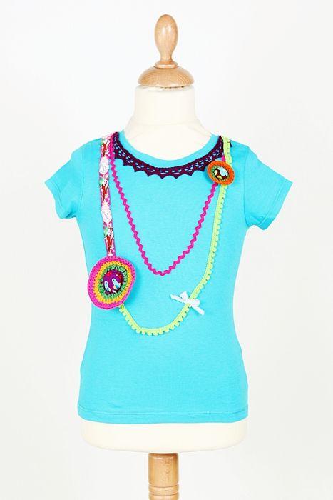 """Collection 2013.   T-shirt """"Sautoir""""  www.madamemanu.be"""