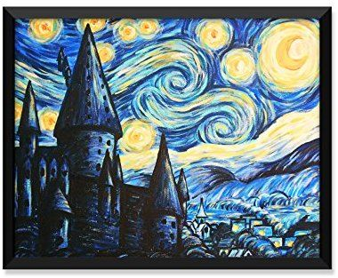 Hogwarts Starry Night Painting, Harry Potter