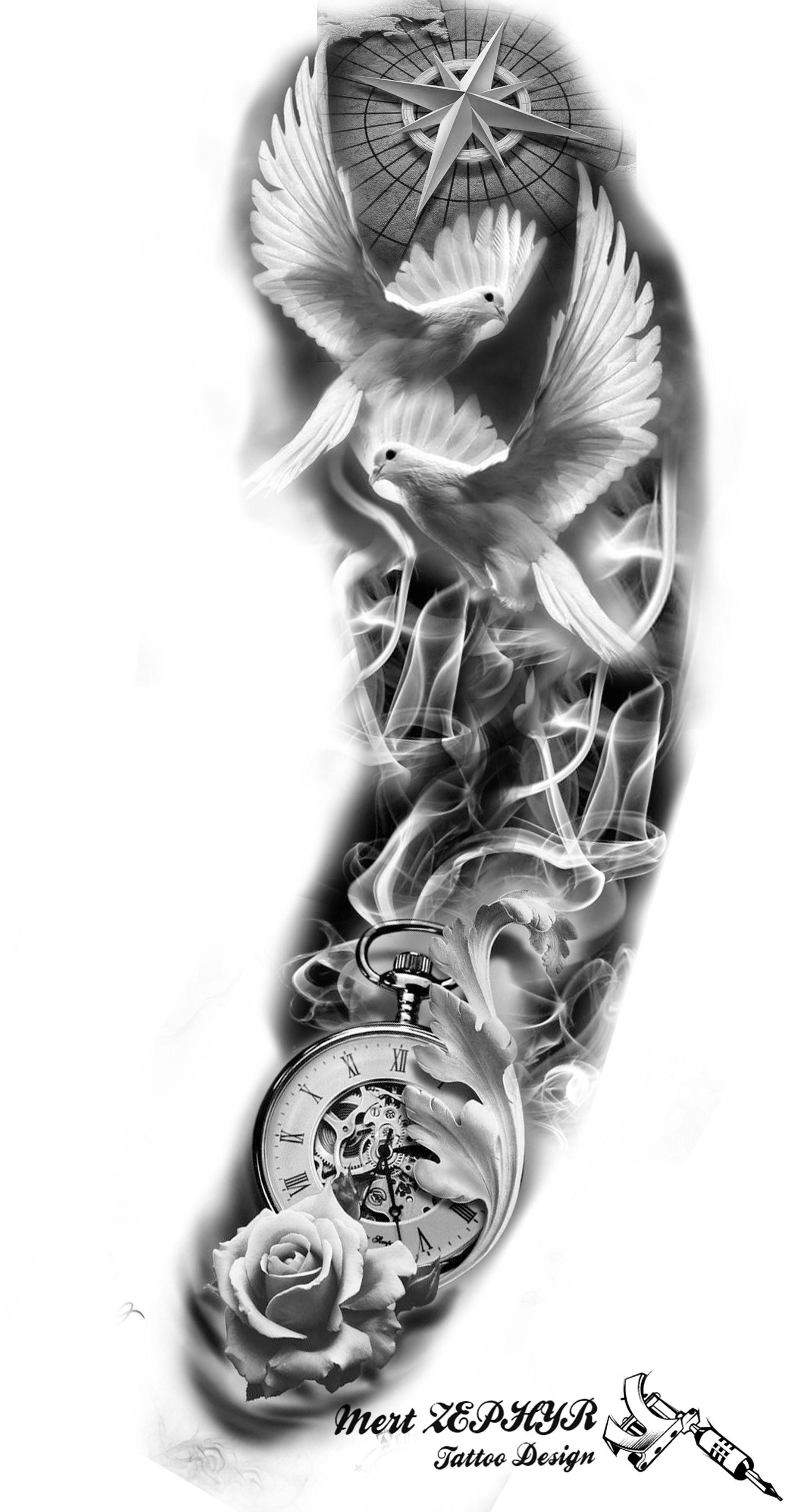 Photo of Tattoo Design by mertzephyr – Christmas Designs – Amy