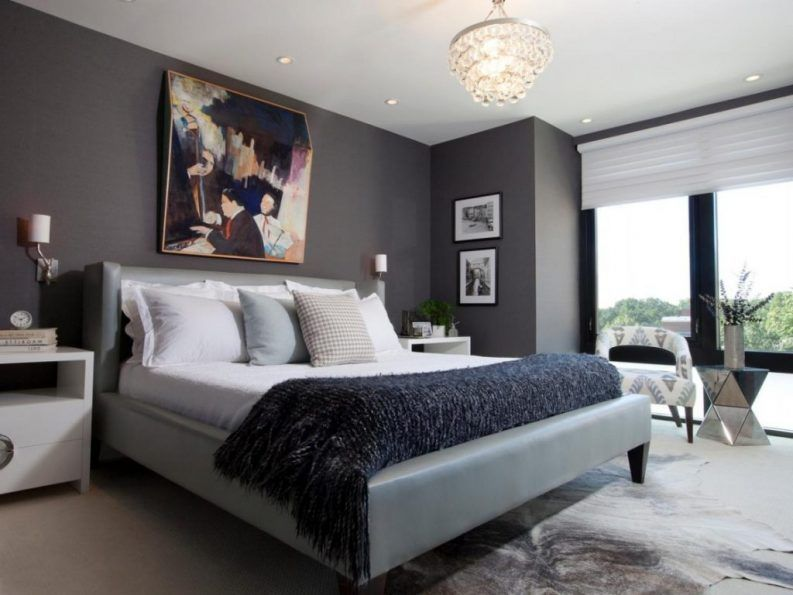 Image Result For Dark Gray Accent Wall Mens Bedroom Colors Bedroom Color Schemes Luxurious Bedrooms