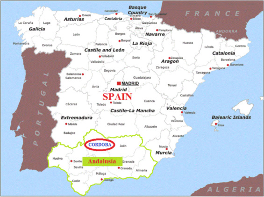 Map Of Spain Under Moorish Rule.Image Result For Map Cordoba Spain Pic History Andalusia Spain