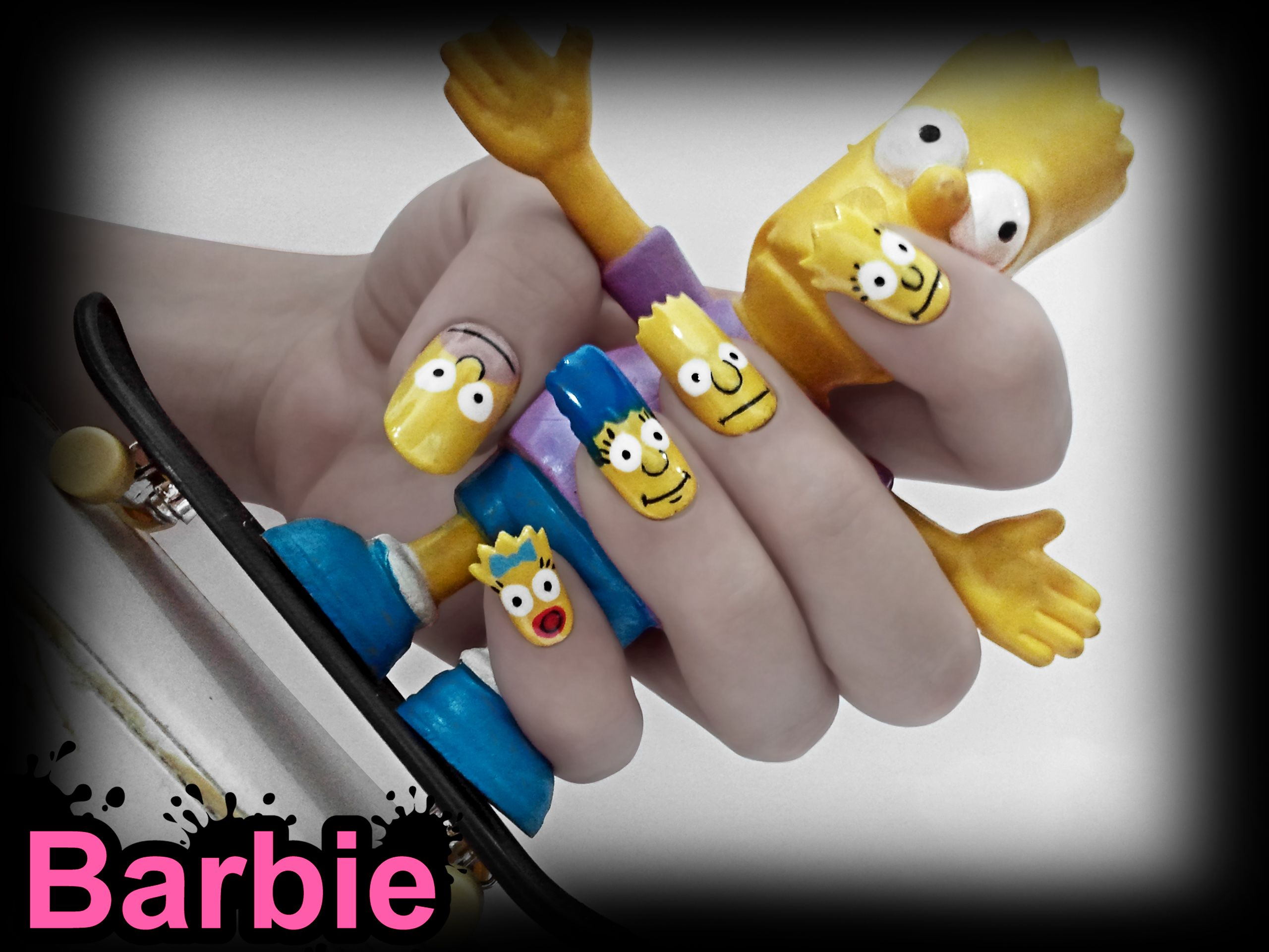 The Simpsons Nails - Nail Design in Simpsons shape, adult animated ...