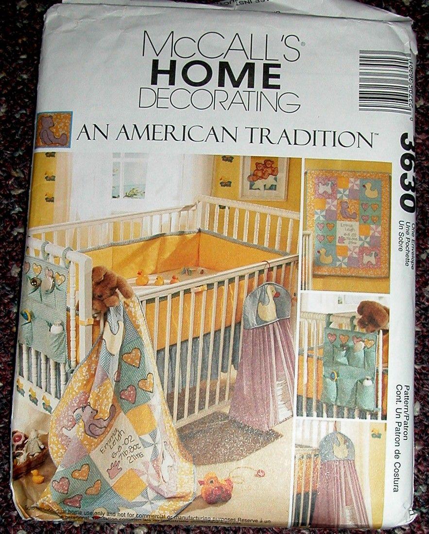 Pattern Mccalls 3630 Baby Quilt Diaper Stacker Bed Bed Organiser