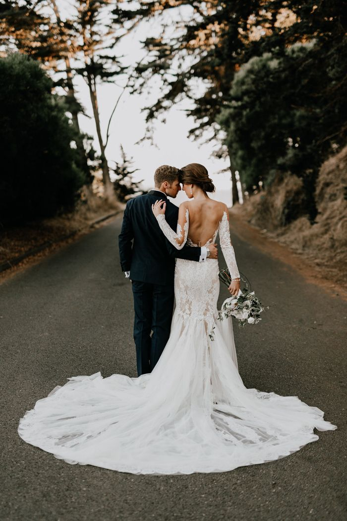 c155d665fd0ec Stunning Pronovias dress with long train | Image by Greg Petersen Bridal  Pictures, Wedding Dresses