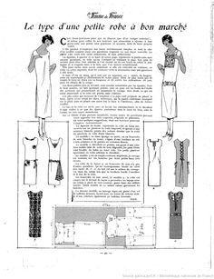 """Petite robe simple in """"La Femme de France"""" 29/06/1924)"""