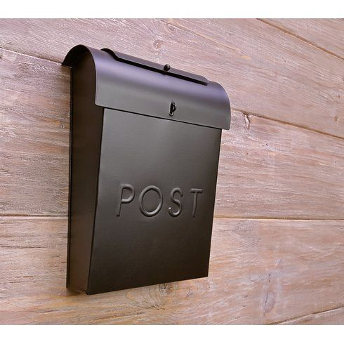 Emily Post Industrial Style Wall Mounted Mailbox Wall Mount Mailbox Mounted Mailbox Mailbox On House