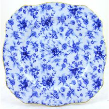 Royal Winton Blue Cottage Ascot Plate 10.5 inch