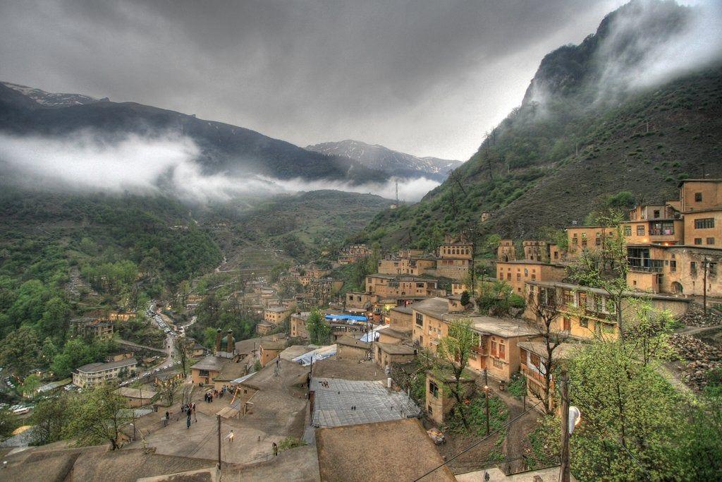 Masouleh Village in Alborz mountains, Gilan Province : iran