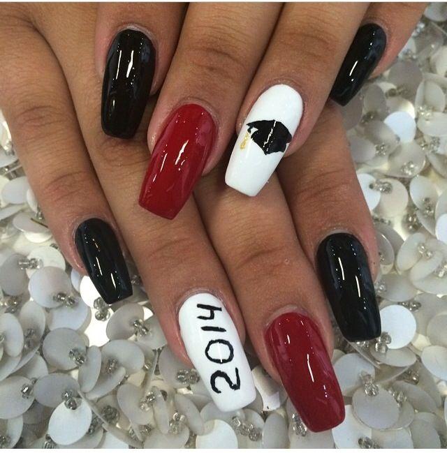 Graduation nails - Graduation Nails Nail Art Pinterest Coffin Nails, Makeup And