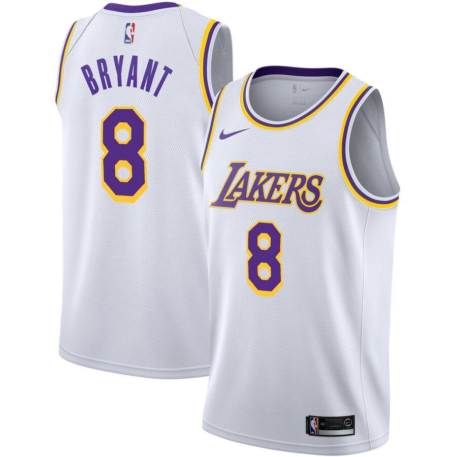 Men's Kobe Bryant Los Angeles Lakers Jersey White - Association ...