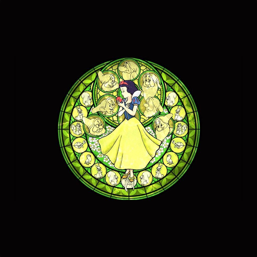 白雪姫のステンドグラス スマホ壁紙 Iphone Android対応無料 高画質スマホ壁紙 壁紙 スマホ壁紙 ステンドグラス