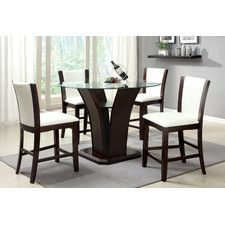 Carmilla 5 Piece Counter Height Dining Set Dining Room Sets