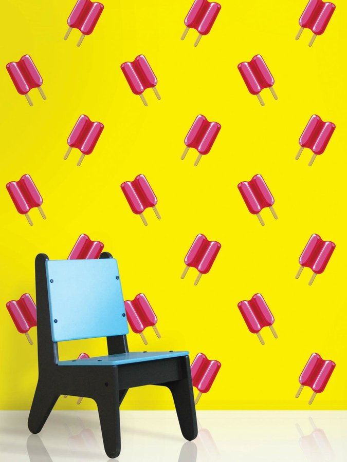 Wall Candy Arts Twin Pops Yellow/Pink Wallpaper on shopstyle.com ...