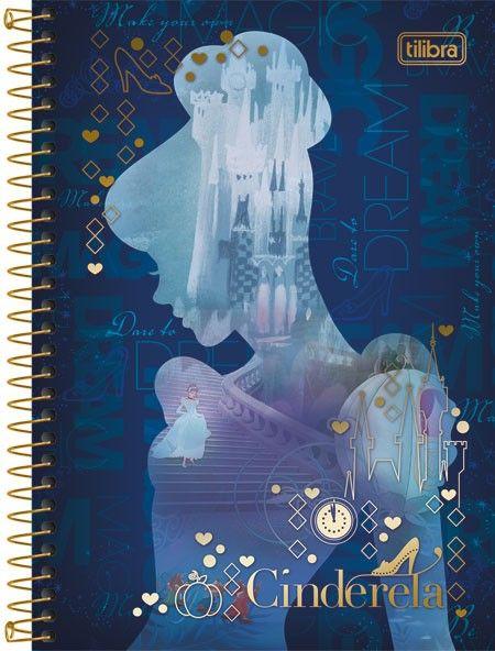 01d0347d16e9d Caderno Espiral Capa Dura 1 4 Cinderela 96fls   material escolar ...