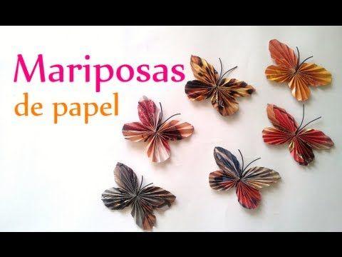 Manualidades c mo hacer mariposas de papel innova - Youtube manualidades de papel ...