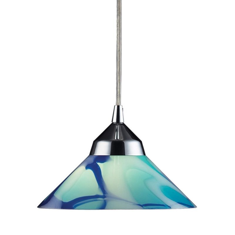 View The Elk Lighting 1477 1 Refraction Single Light 7 Wide Mini Pendant With