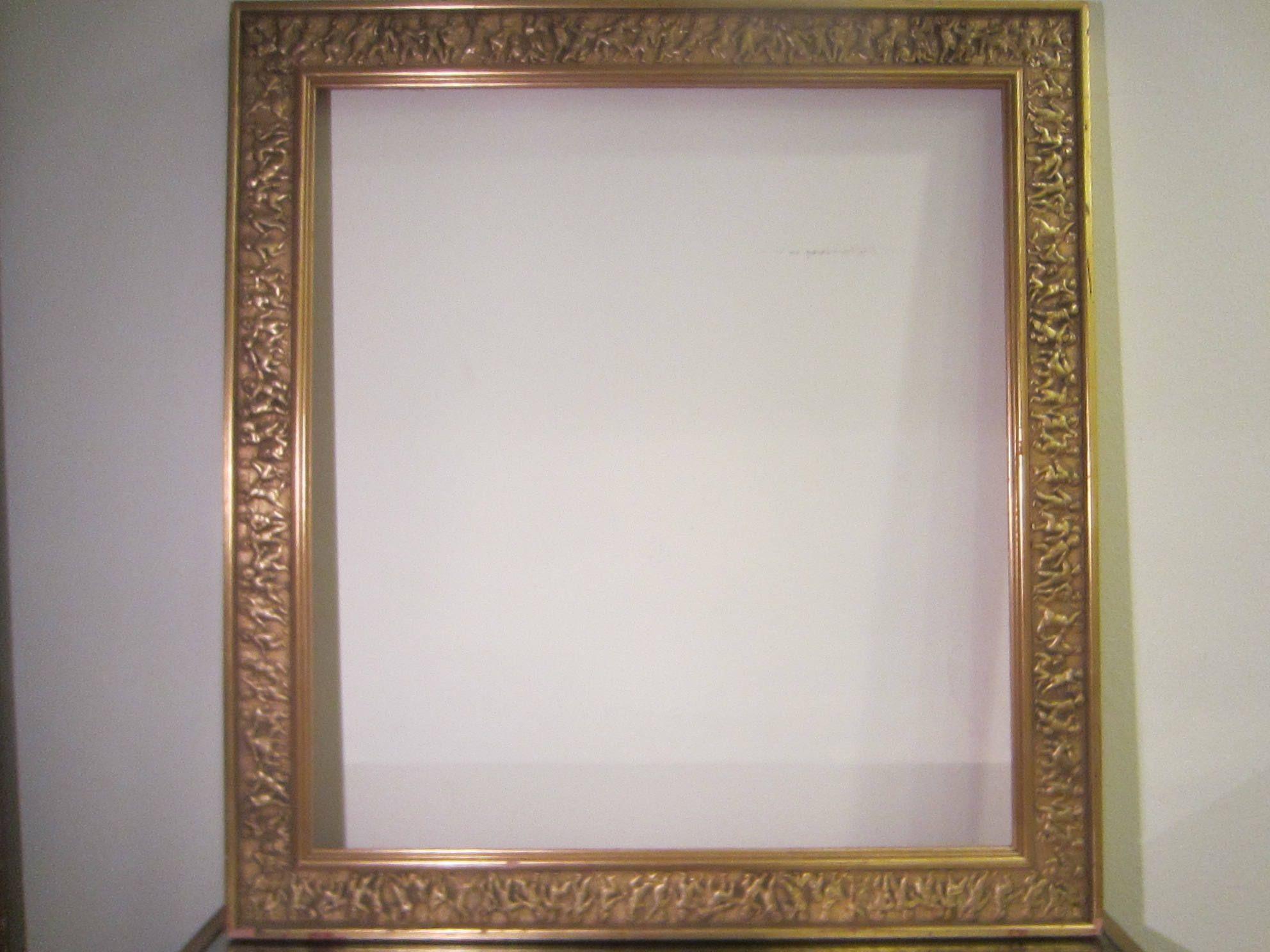 Gold Leaf Picture Frame Raised Figures Large Frame Picture Frames Vintage Frames