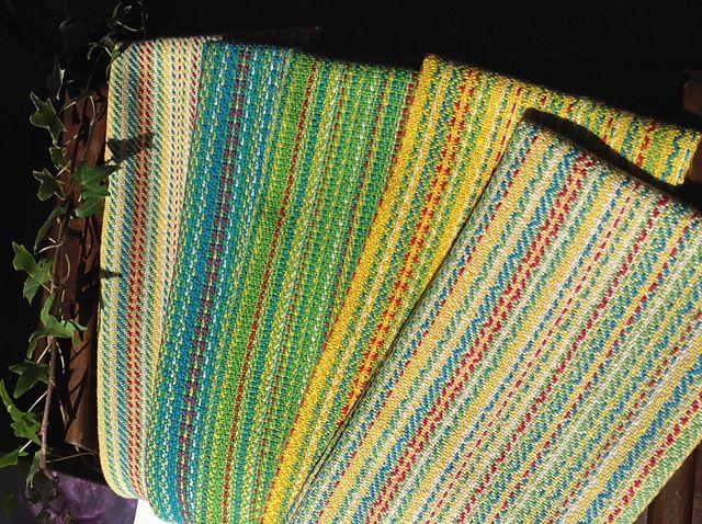 Ravelry: soapyknitter's Random Striped Twill Towels