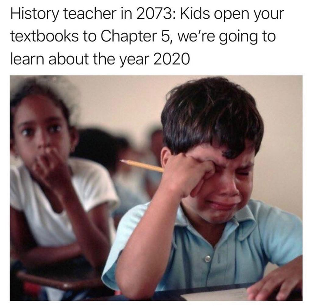 All The Kids In Future Tryna Learn All Things Happened In 2020 For Their History Final Ifunny Funny School Memes Funny Memes School Memes