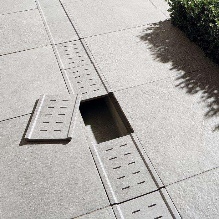Aménagement extérieur Dalles Pièces spéciales Caniveaux idées - drainage autour d une terrasse