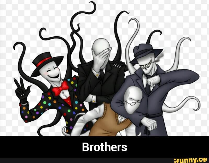 slenderman with his brothers splendorman trenderman and