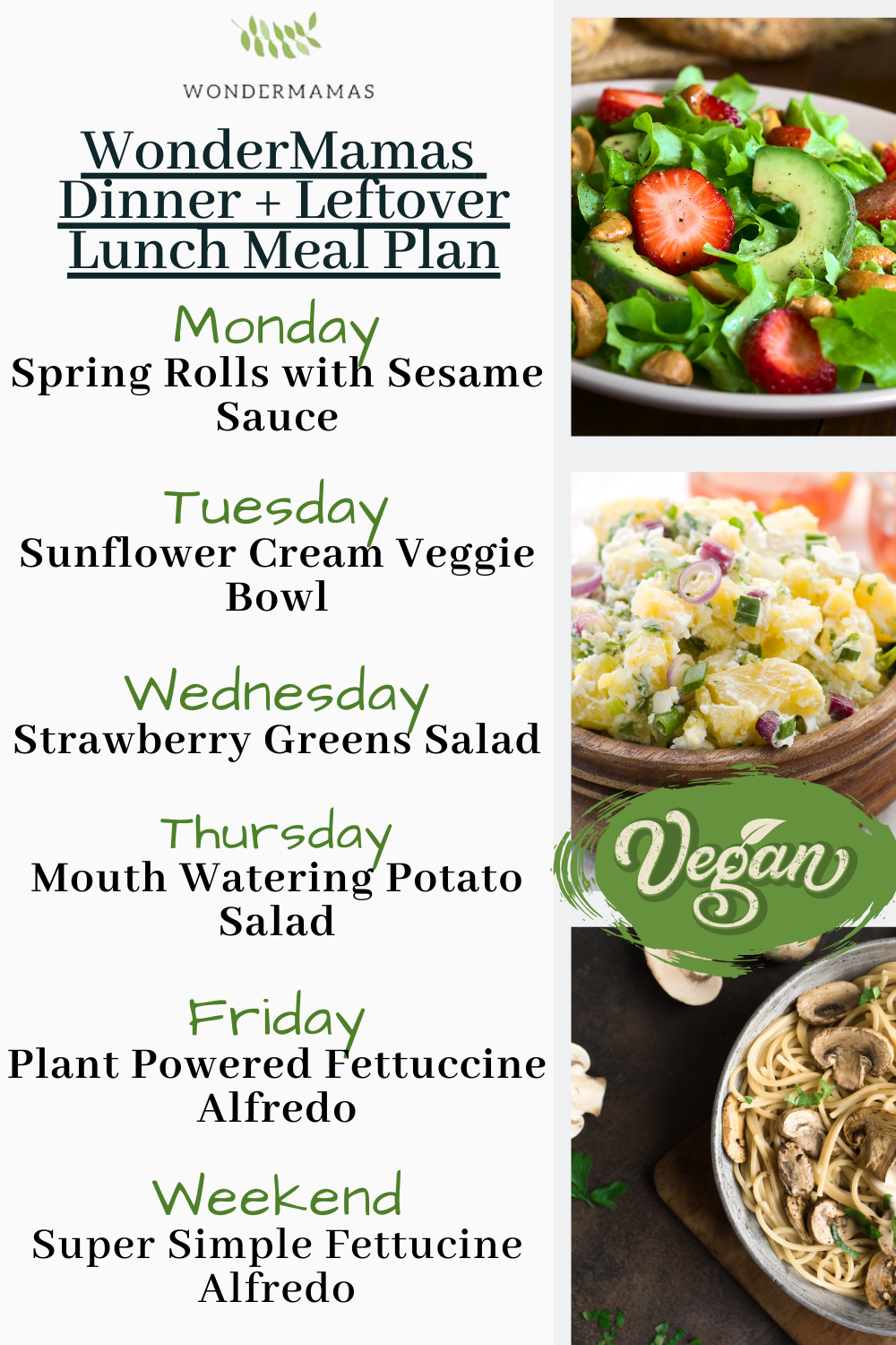 Whole Food Plant Based Meal Plans Family Style Vegan Family Support In 2020 Healthy Meal Planner Vegan Lunch Recipes Meal Planning