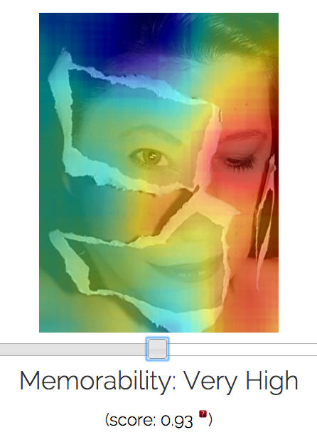 How memorable is that image? Test out at http://memorability.csail.mit.edu/demo.html