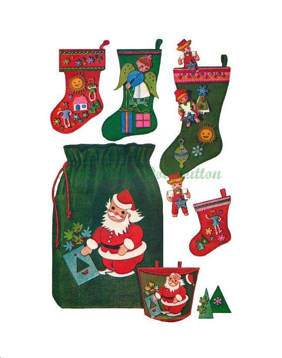 Vintage 1960s McCalls 2411 Holiday Christmas by pinkpolkadotbutton ...