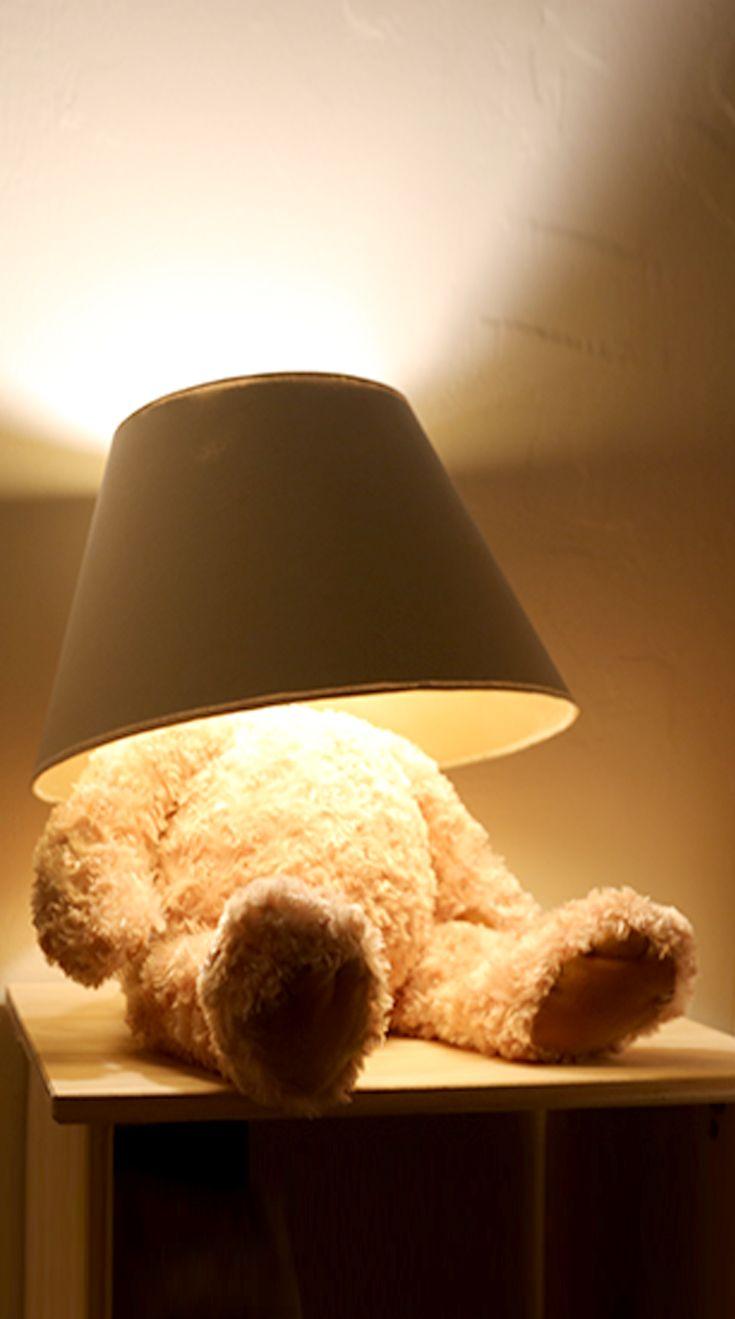 Teddy Bear Lamp With Images Diy Teddy Bear Lamp Lamp Inspiration