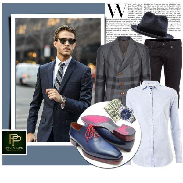 Men's luxury shoes - Paul Parkman by monmondefou on Polyvore featuring polyvore, fashion, style, Tommy Hilfiger, Vivienne Westwood Man, H&M and rag & bone