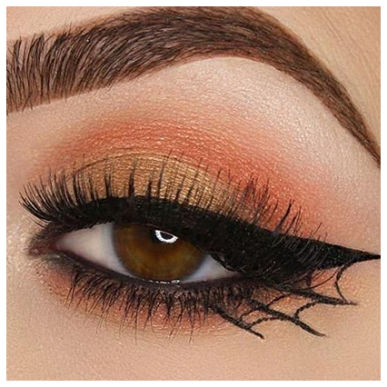 If you're looking for a nice, minimalist (or not so minimalist) Halloween eyeliner, a classic and simple spiderweb eyeliner might suit you perfectly!#Spiderweb-inspired #Minimalist #Halloween #Eyeliner #Tutorial make up halloween easy beauty 66 Halloween Minimalist Spiderweb-inspired Eyeliner Tutorial 36+ | make up halloween easy beaut